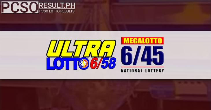 Ultralotto 6/58 and Megalotto 6/45 draws
