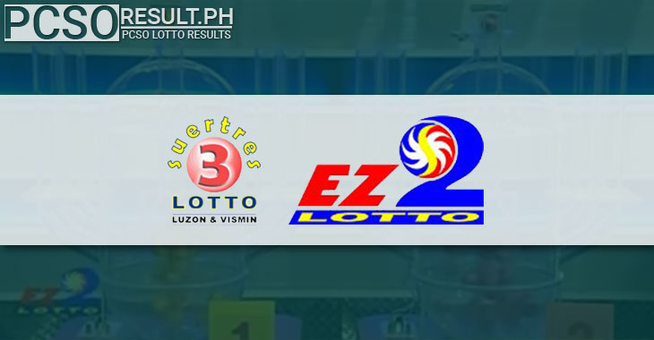 Image of Swertres lotto (3D) and EZ2 lotto (2D) draws