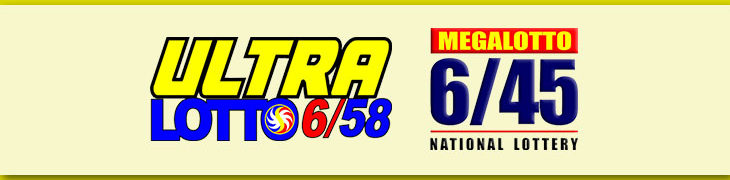 Logos of 6/58 Ultra Lotto and 6/45 Mega Lotto