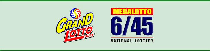 6/55 Grand Lotto and 6/45 Mega Lotto Logos