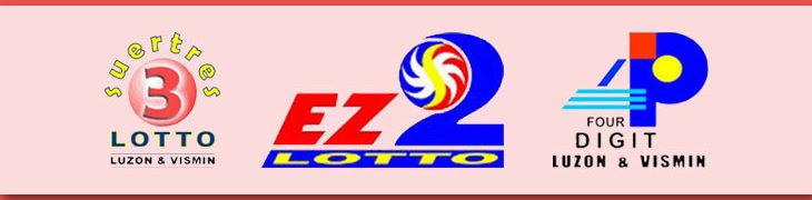 Swertres, EZ2 and 4D logos