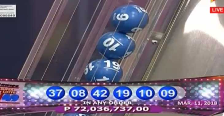 6/49 Super Lotto result March 11, 2018