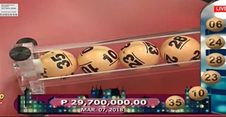6/55 Grand Lotto Result March 7, 2018