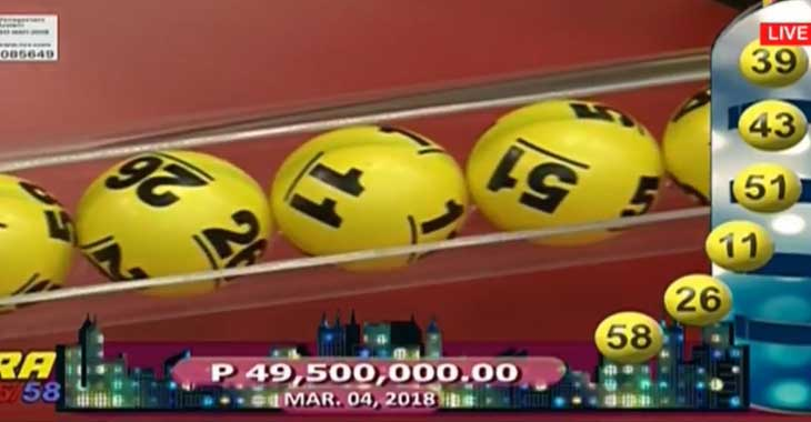 6/58 Ultra Lotto Result March 4, 2018