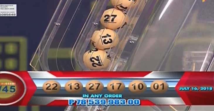 Lotto Results for July 16, 2018 – 6/55 & 6/45 Draws (1 Lucky Winner)