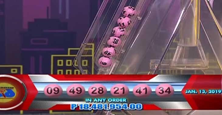 6/49 Lotto Result January 13, 2019