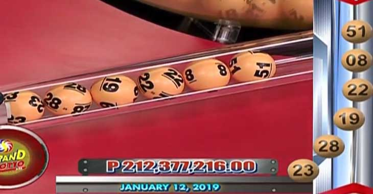 6/55 Lotto Result January 12, 2019