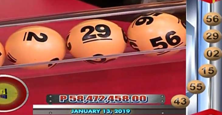 6/58 Lotto Result January 13, 2019