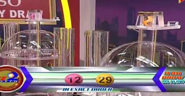 EZ2 Lotto Result January 14, 2019
