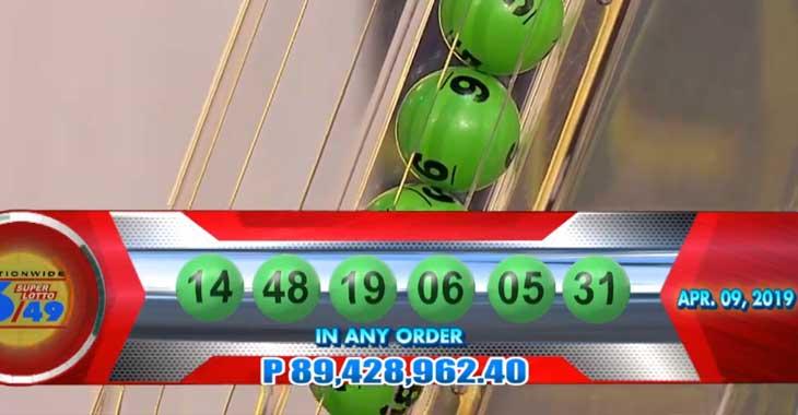 6/49 Lotto Result April 9, 2019