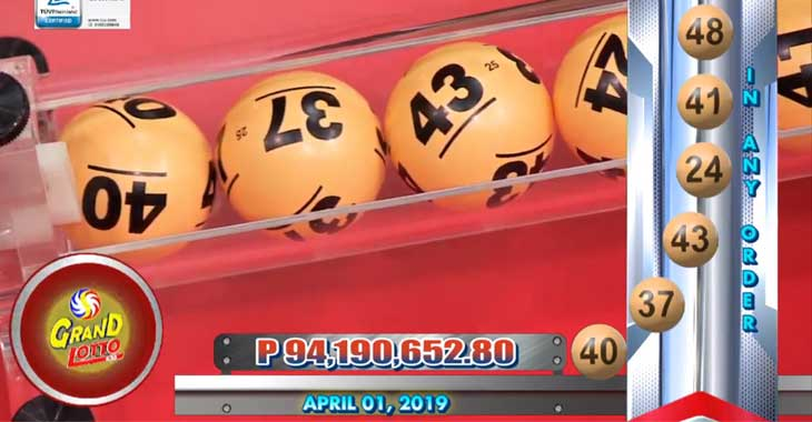 6/55 Lotto Result April 1, 2019